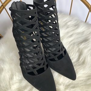 Shoes - Black Gladiator Heels